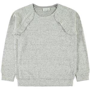 NAME IT meisjes trui light grey melange