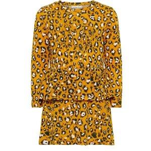 NAME IT meisjes jurk golden orange