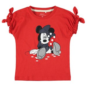 NAME IT meisjes t-shirt poppy red minnie mouse