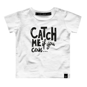 YOUR WISHES unisex t-shirt catch me white