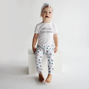 YOUR WISHES meisjes t-shirt little miss sunshine white