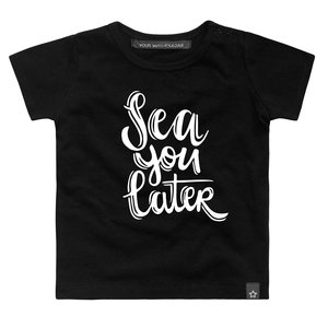 YOUR WISHES meisjes t-shirt sea you black