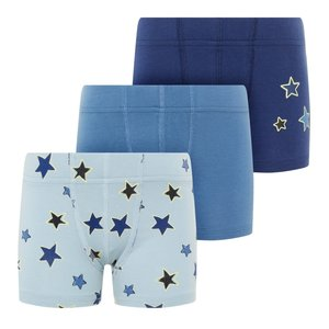 NAME IT jongens 3-pack onderbroek blue fog