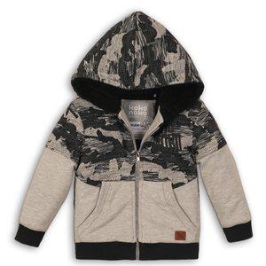 KOKO NOKO jongens gevoerd vest grey melee + black camouflage