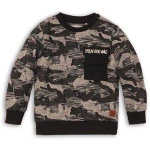 KOKO NOKO jongens trui black + camouflage print