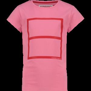 VINGINO meisjes t-shirt deep pink war child