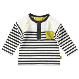 B.E.S.S. meisjes longsleeve white striped
