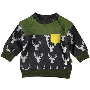 B.E.S.S. jongens trui anthracite deer
