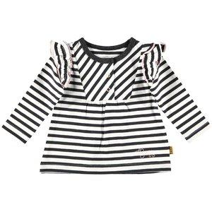 B.E.S.S. meisjes longsleeve white stripes