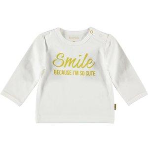 B.E.S.S. jongens longsleeve white smile