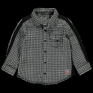 Quapi jongens blouse tires grey check vasco