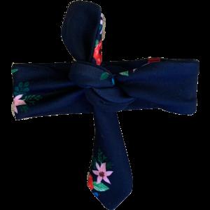 Quapi meisjes haarband navy flower venice 1