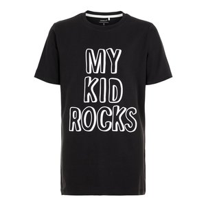 NAME IT volwassen t-shirt black my kid rocks