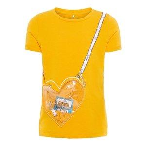 NAME IT meisjes t-shirt golden orange