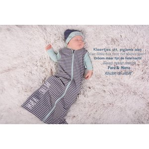Quapi little nazan sleepingbag grey melee stripe nos