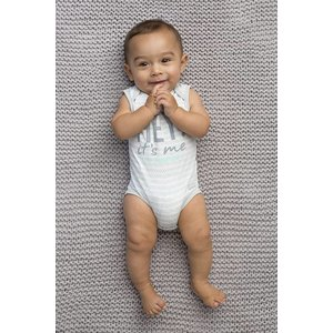 Quapi little neo bodysuit grey stripe nos