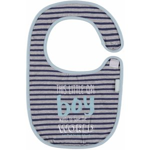 Quapi little nando bib grey melee stripe nos