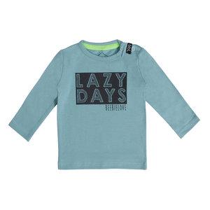 BEEBIELOVE jongens longsleeve blue lazy days