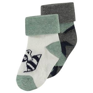NOPPIES jongens 2-pack sokken green milieu amesbury