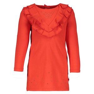 LE CHIC meisjes jurk gilead red