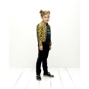 LE CHIC meisjes bomberjas golden honey leopard spots