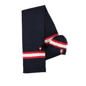 LCEE kidswear jongens muts en sjaal blue navy