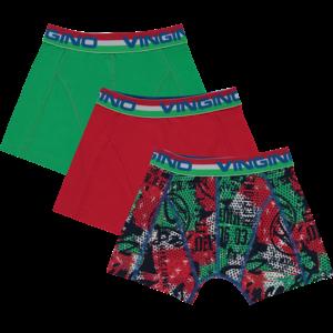 VINGINO jongens 3-pack boxershort basil green italia