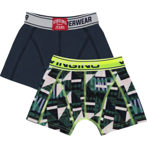 VINGINO jongens 2-pack boxershort dark blue graphic