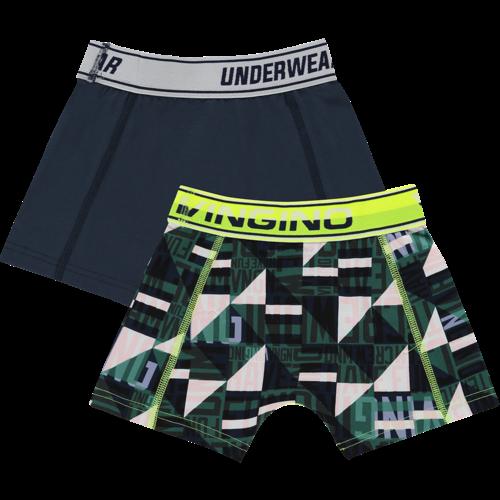 VINGINO Vingino jongens 2-pack boxershort dark blue graphic