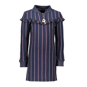Nono meisjes jurk navy blazer monky stripes