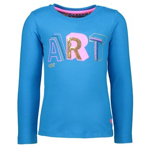 Kidz Art meisjes longsleeve turquoise art