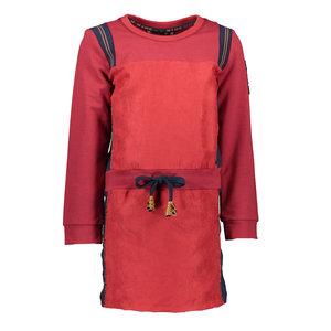 Nono meisjes jurk warm red mylab suede