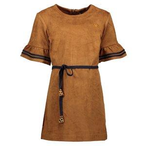 Nono meisjes jurk cinnamon meta suede