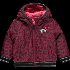 Quapi meisjes jas bordeaux leopard & pink vallie reversible