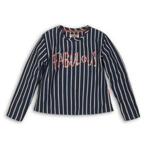 DJ DUTCHJEANS meisjes longsleeve jeans blue + stripe fabulous