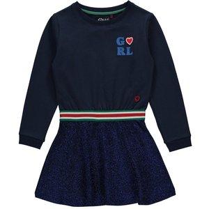 Quapi Quapi meisjes jurk navy tabby