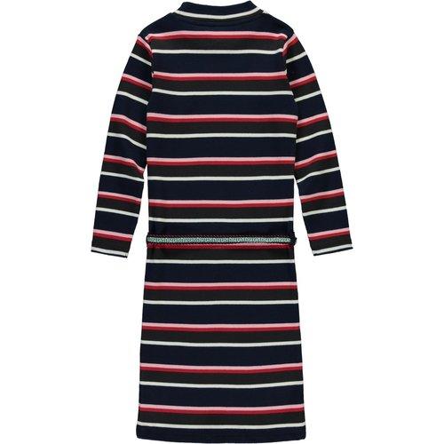 Quapi Quapi meisjes jurk navy stripe tahira