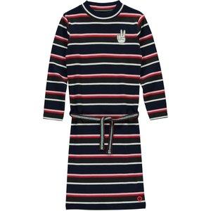 Quapi meisjes jurk navy stripe tahira