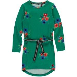 Quapi meisjes jurk forest green flower tamia 2