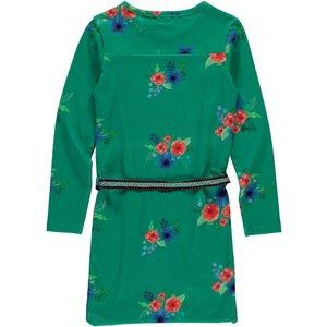 Quapi Quapi meisjes jurk forest green flower tamia 2