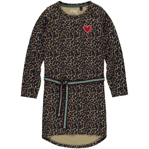 Quapi Quapi meisjes jurk leopard tamia 2