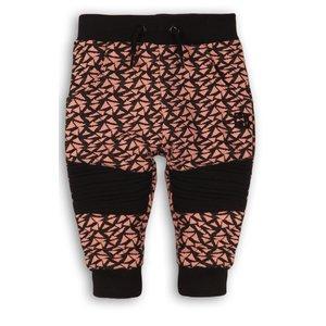 DIRKJE BABYKLEDING meisjes joggingbroek grey melee + light pink + black girl power