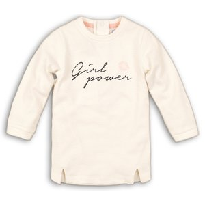 DIRKJE BABYKLEDING meisjes jurk off white girl power