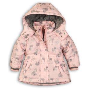 DIRKJE BABYKLEDING meisjes jas light pink aop so soft love