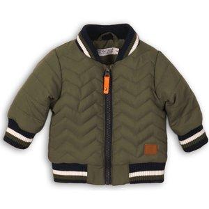 DIRKJE BABYKLEDING jongens jas army green so bright go get them tiger