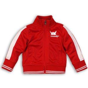 DIRKJE BABYKLEDING jongens vest red so fresh always be yourself