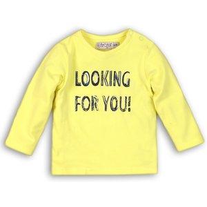 DIRKJE BABYKLEDING jongens longsleeve neon yellow so soft looking for you