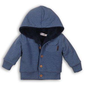 DIRKJE BABYKLEDING jongens vest blue melee so soft happy