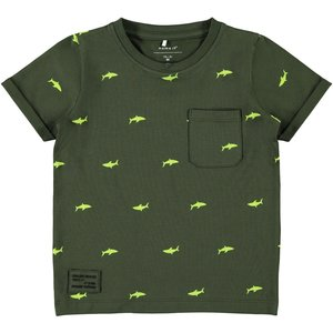 NAME IT jongens t-shirt forest night