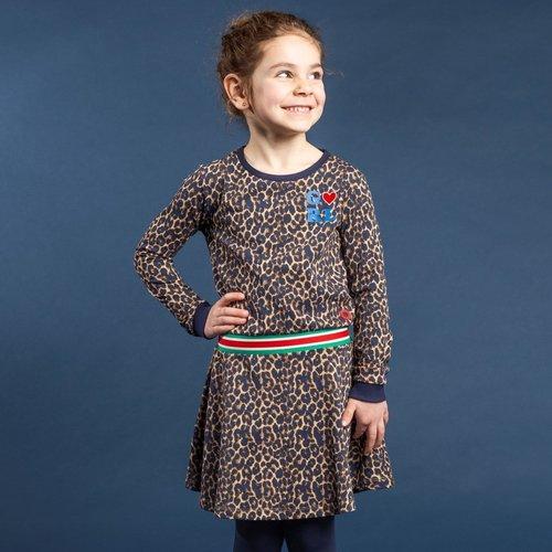 Quapi Quapi meisjes jurk leopard tacey